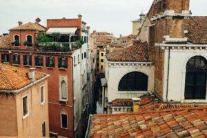 Künstler Fotografen Venedig Dächer Terrasse Canal Grande