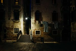 Wäsche Nacht Venedig Künstler Fotografen Wein